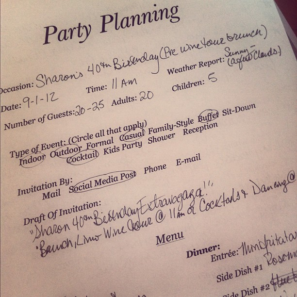 Party Planning Template  Wishing For Horses