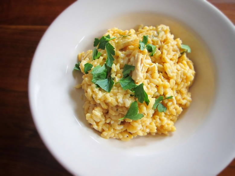 cheddar cheese risotto