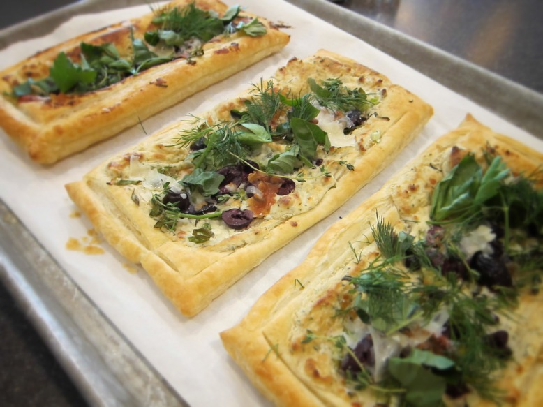 herb & cheese puff pastry
