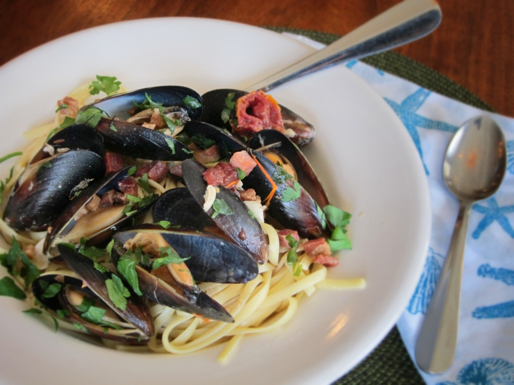 Linguine with Mussles