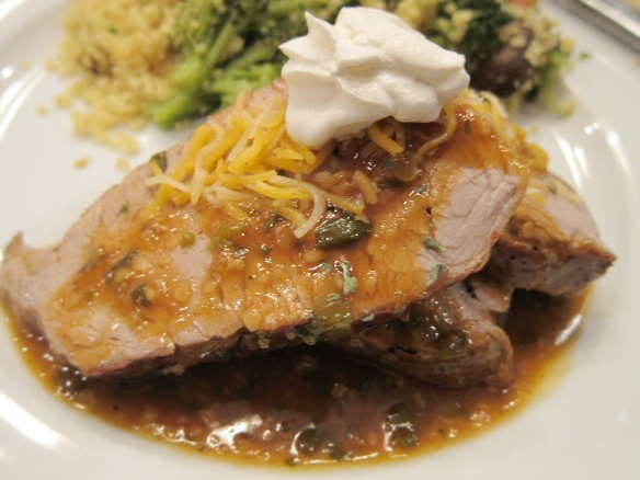 Pork Loin with Enchilada Sauce