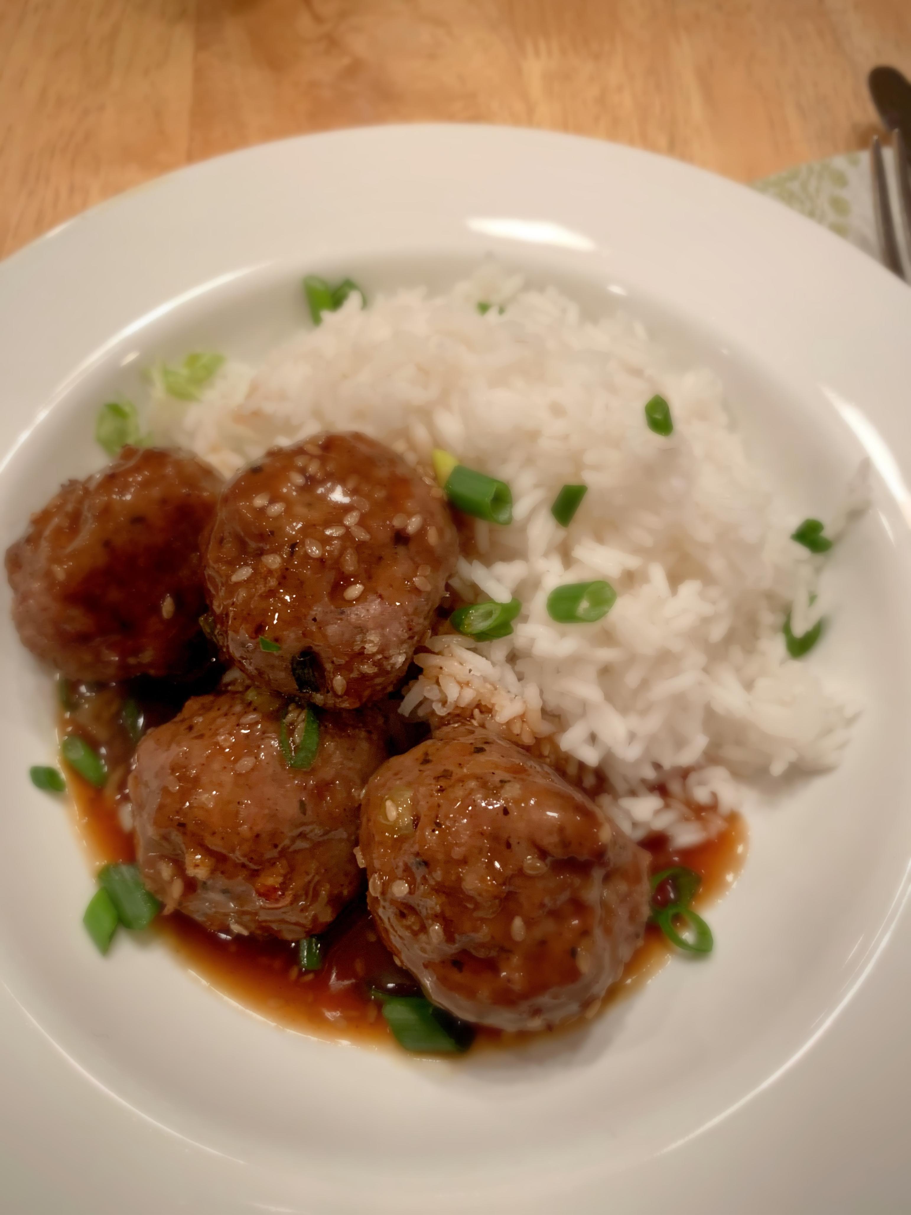 Hoisin meatballs